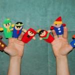 teatru de marionete, papusi pentru degete